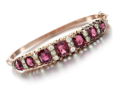 View 2. Thumbnail of Lot 217. SPINEL AND DIAMOND BANGLE  .