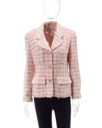 Pink and white checkered jacket