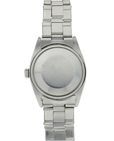 View 5. Thumbnail of Lot 552. ROLEX  |  REFERENCE 1500 DATE  RETAILED BY SERPICO Y LAINO: A STAINLESS STEEL AUTOMATIC WRISTWATCH WITH DATE AND BRACELET, CIRCA 1965.