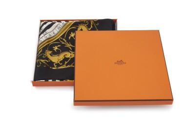 Printed silk scarf 'Dies et hore',  Hermès
