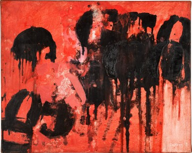View 1. Thumbnail of Lot 738. ROBYN DENNY | RED BEAT I.