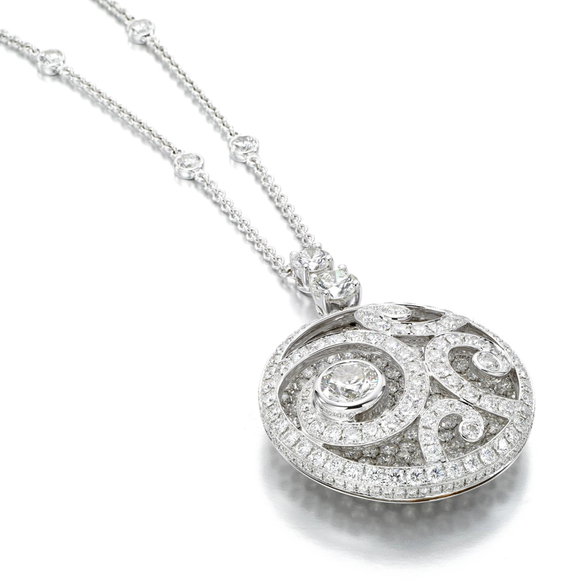 View full screen - View 1 of Lot 138. Graff | Diamond 'Diamond on Diamond' necklace.
