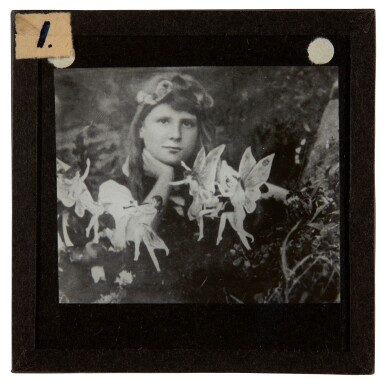 View 4. Thumbnail of Lot 72. [DOYLE, Sir A.C.] COTTINGLEY FAIRIES   Collection from M.T. Johnson, including 5 photographic plates, psychic spectacles.