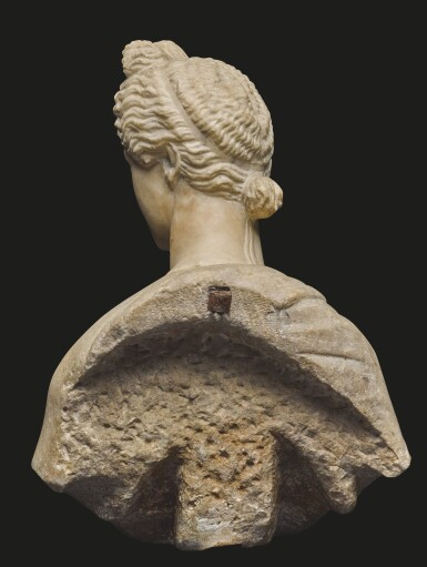 View 3. Thumbnail of Lot 32. AN ITALIAN MARBLE BUST OF A GODDESS, AFTER THE ANTIQUE, 16TH/17TH CENTURY.