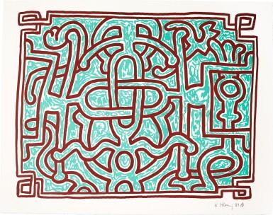 View 4. Thumbnail of Lot 140. KEITH HARING | CHOCOLATE BUDDHA 1-5 (L. PP. 122-125).