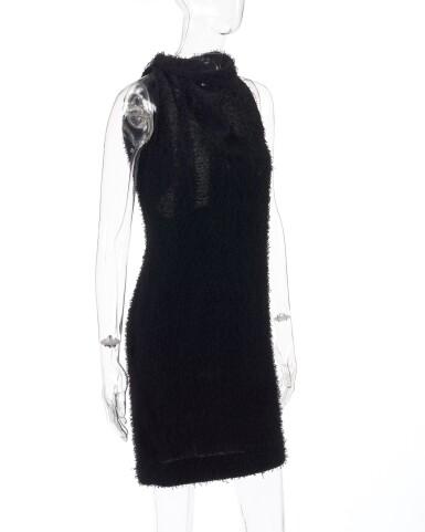 View 2. Thumbnail of Lot 181. Black open-back dress.