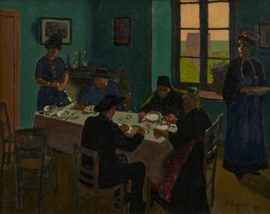 View 1. Thumbnail of Lot 25. Le banquet de la Bretonne, 1920.