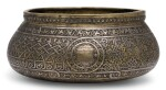 A MAMLUK 'VENETO-SARACENIC' SILVER AND GOLD-INLAID BRASS BOWL, SYRIA OR EGYPT, 15TH CENTURY