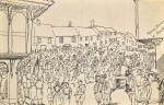 EDWARD BAWDEN, R.A. | MORRIS DANCING AT THAXTED; VILLAGE FETE