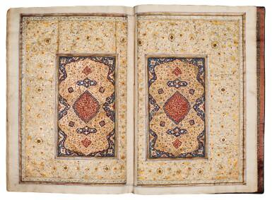 View 5. Thumbnail of Lot 24. Qur'an. copied by Ahmad al-Nayrizi, illuminated. Persia, Safavid and Qajar. 1122 AH/1710 AD.