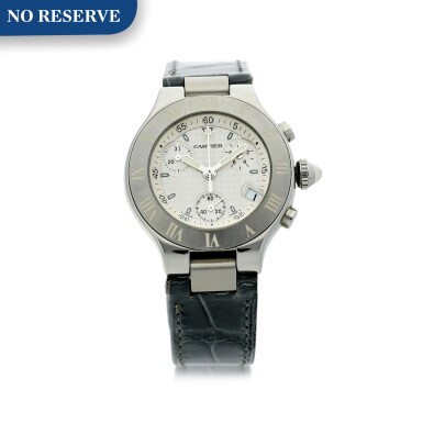 View 1. Thumbnail of Lot 8. REFERENCE 2996 CHRONOSCAPH 21 A STAINLESS STEEL CHRONOGRAPH WRISTWATCH WITH DATE, CIRCA 2005.