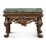 A GEORGE II CARVED WALNUT SIDE TABLE, CIRCA 1745
