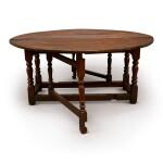 AN ENGLISH WALNUT GATE-LEG TABLE, MID-18TH CENTURY