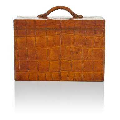 View 3. Thumbnail of Lot 98. Art Deco Torino Crocodile Skin Gentleman's Dressing Case, Complete with all of the Original Fittings commissioned in 1934..