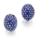 GRAFF | PAIR OF SAPPHIRE AND DIAMOND EARRINGS
