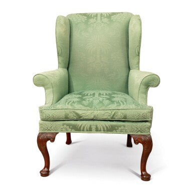View 1. Thumbnail of Lot 502. A GEORGE II WING ARMCHAIR, PROBABLY 18TH CENTURY.
