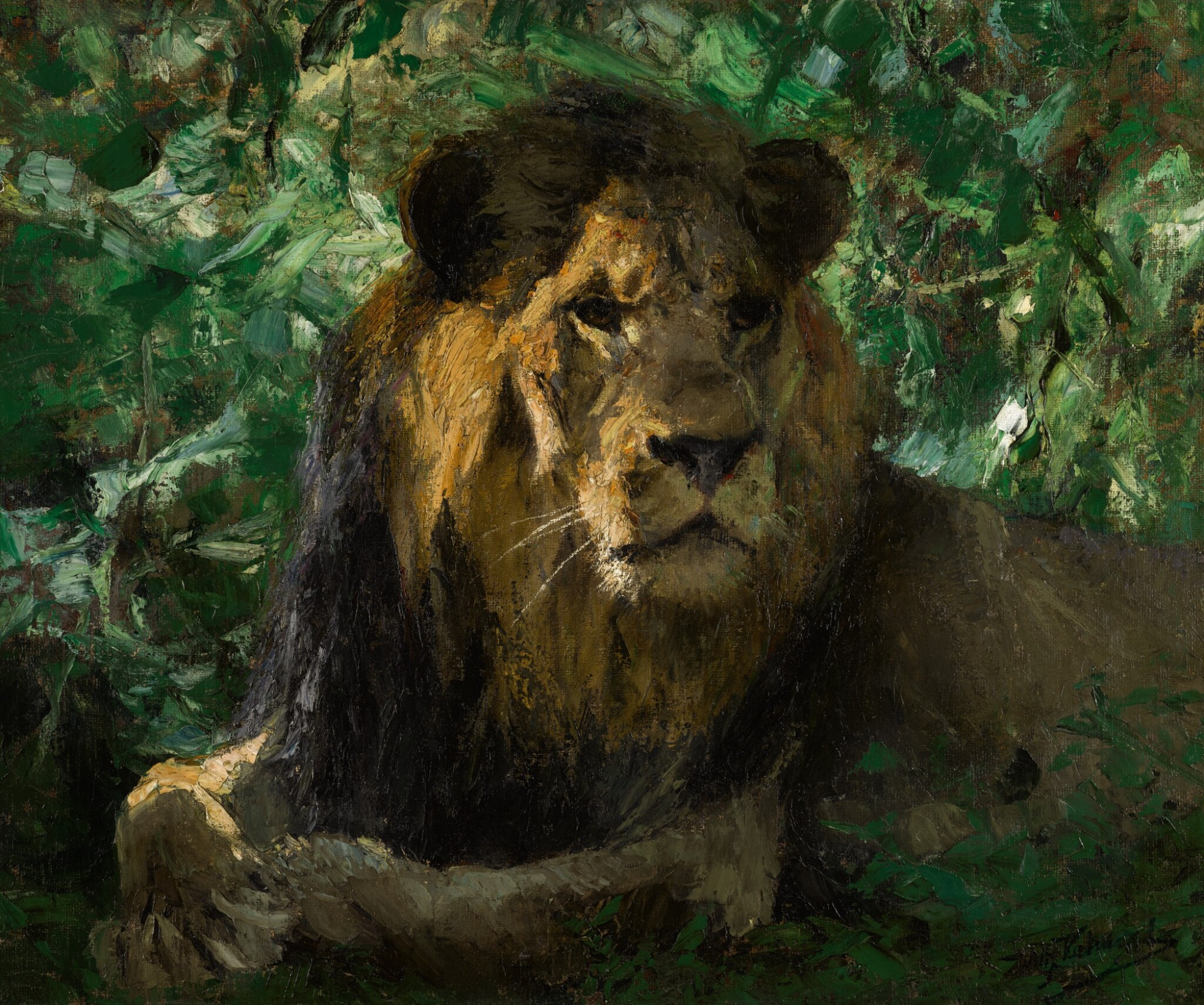 View 1 of Lot 148. Resting Lion.