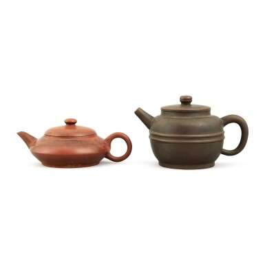 View 2. Thumbnail of Lot 25. A Yixing teapot and cover, Republic period.