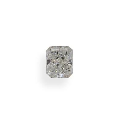 A 1.03 Carat Cut-Cornered Rectangular Modified Brilliant-Cut Diamond, I Color, SI2 Clarity