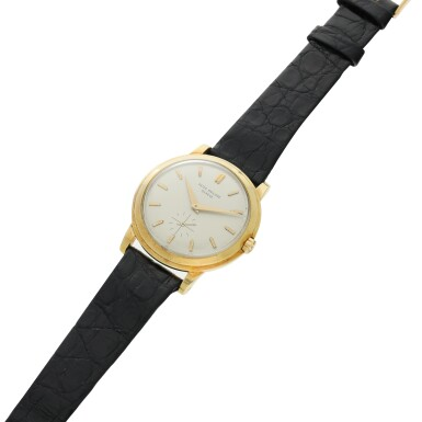 View 5. Thumbnail of Lot 241. Reference 2552 'The Flying Saucer'  A yellow gold automatic wristwatch, Made in 1955 .