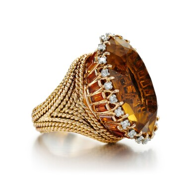 View 3. Thumbnail of Lot 40. CITRINE AND DIAMOND RING | STERLÉ, 1950S.