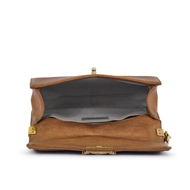 View 7. Thumbnail of Lot 69. Gold and Bronze Lambskin Boy Bag Medium Aged Gold Toned Hardware, 2015.