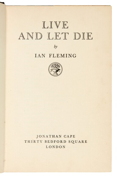 View 6. Thumbnail of Lot 11. FLEMING   Live and Let Die, 1954, first edition, presentation copy inscribed to Winston Churchill.