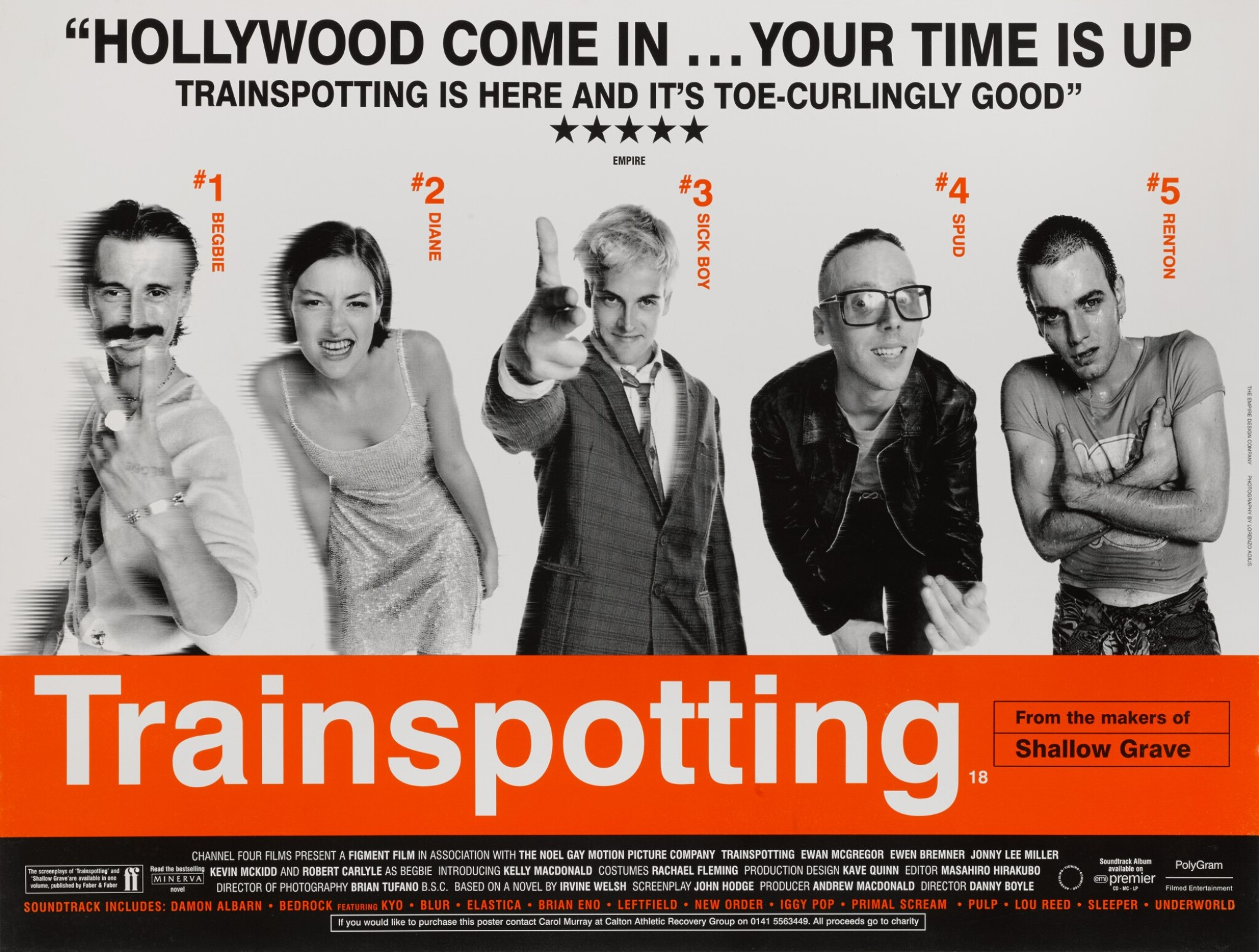 View full screen - View 1 of Lot 171. TRAINSPOTTING (1996) POSTER, BRITISH.