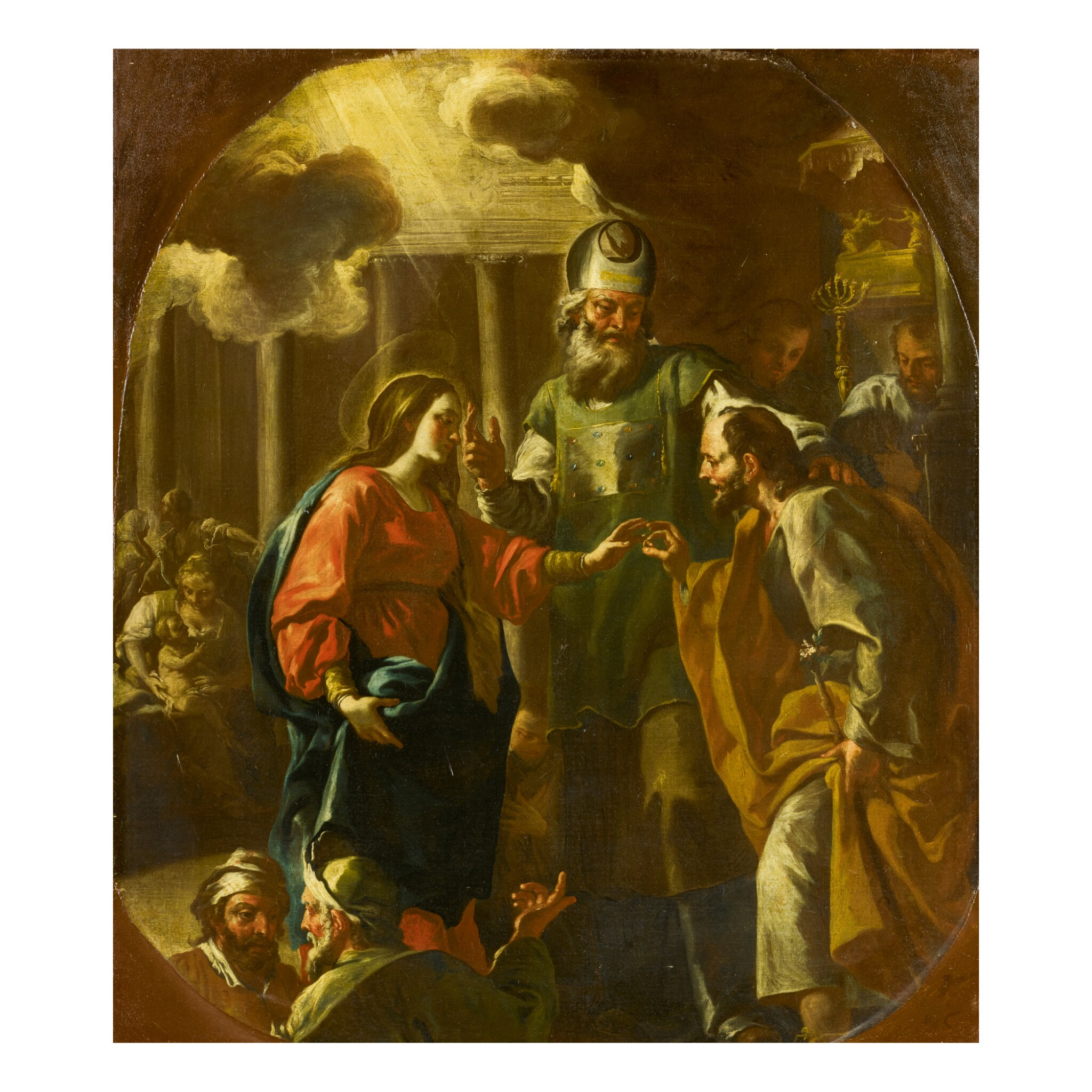 View full screen - View 1 of Lot 147. JACOPO CESTARO | THE MARRIAGE OF THE VIRGIN.