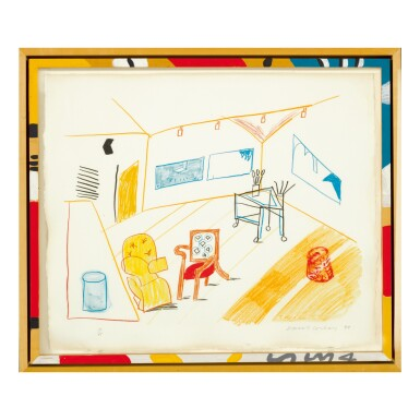 View 1. Thumbnail of Lot 212.  DAVID HOCKNEY | CONVERSATION IN THE STUDIO (M.C.A.T. 260).