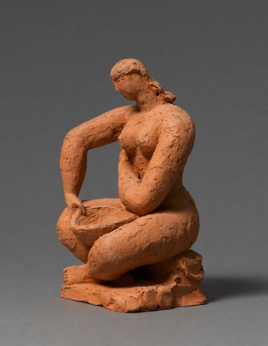View 2. Thumbnail of Lot 6. FRANK DOBSON, R.A. | BATHER, STUDY FOR TOILET.