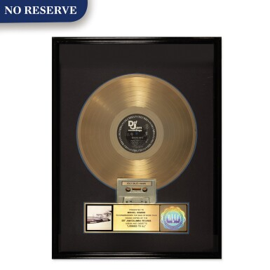 "View 1. Thumbnail of Lot 302. RIAA 1987 Gold Sales Award presented to Michael Diamond for the Beastie Boys 1986 Columbia/Def Jam album ""Licensed to Ill""."