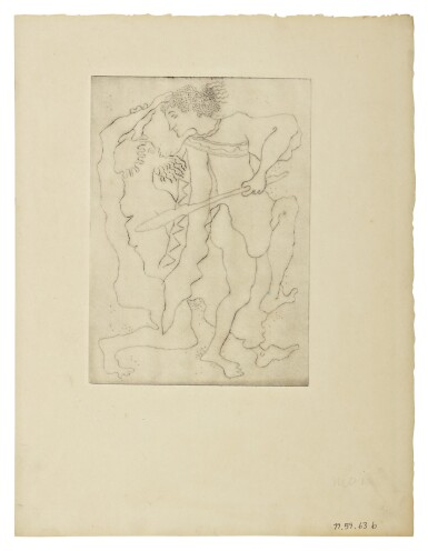 SARA LICHTENSTEIN | FIGURES; MOTHER AND CHILD; TWO FIGURES FIGHTING; AND THREE FIGURES