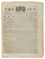 (BASEBALL) | A very early mention of baseball in The Sun, No. 169. New York: Published by Benj. H. Day & Geo. W. Wisner, Wednesday, March 19, 1834