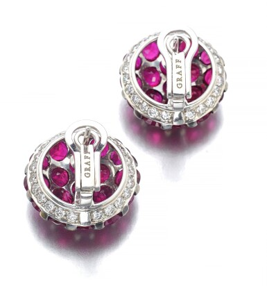 GRAFF | PAIR OF RUBY AND DIAMOND EARRINGS