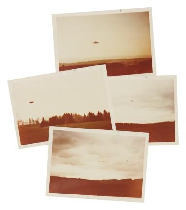 "View 2. Thumbnail of Lot 215. UFO SIGHTING. 4 VINTAGE PHOTOS TAKEN BY ""BILLY"" EDUARD ALBERT MEIER IN SWITZERLAND IN SWITZERLAND IN 1975.."