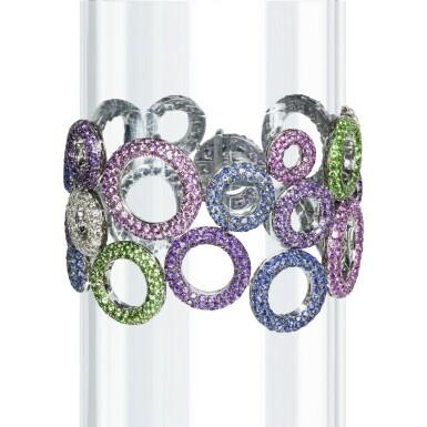 Gem set and diamond bracelet, 'Bubbles', Michele della Valle