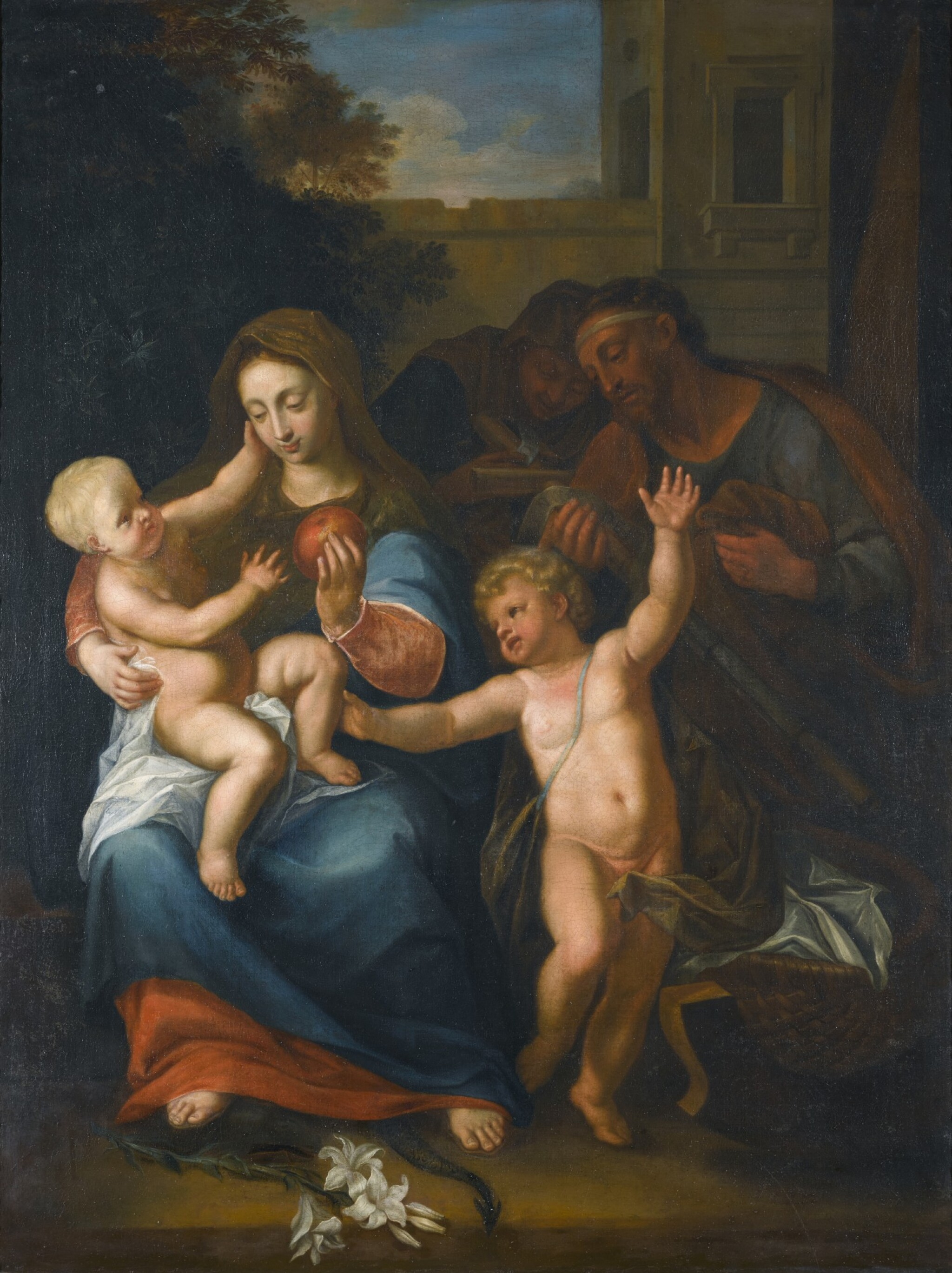 View full screen - View 1 of Lot 280. PIETER VAN DER WERFF | THE VIRGIN AND CHILD, WITH THE INFANT SAINT JOHN THE BAPTIST AND SAINT ANNE.