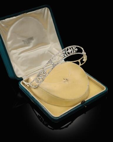 View 2. Thumbnail of Lot 1689. Diamond Bandeau, Early 20th Century   鑽石冠冕, 20世紀初.