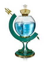 ROLEX   THE TRIDENT FISH BOWL, REFERENCE 313   A GILT BRASS AND GREEN ENAMEL RETAILER'S WINDOW DISPLAY, CIRCA 1960