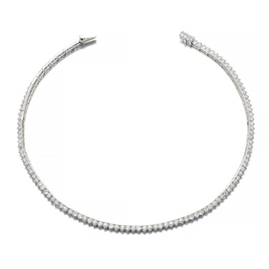 View 1. Thumbnail of Lot 1220. Diamond necklace.