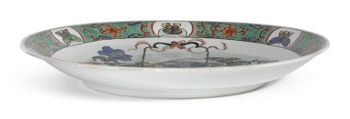A FAMILLE-VERTE 'FLORAL' DISH   QING DYNASTY, KANGXI PERIOD