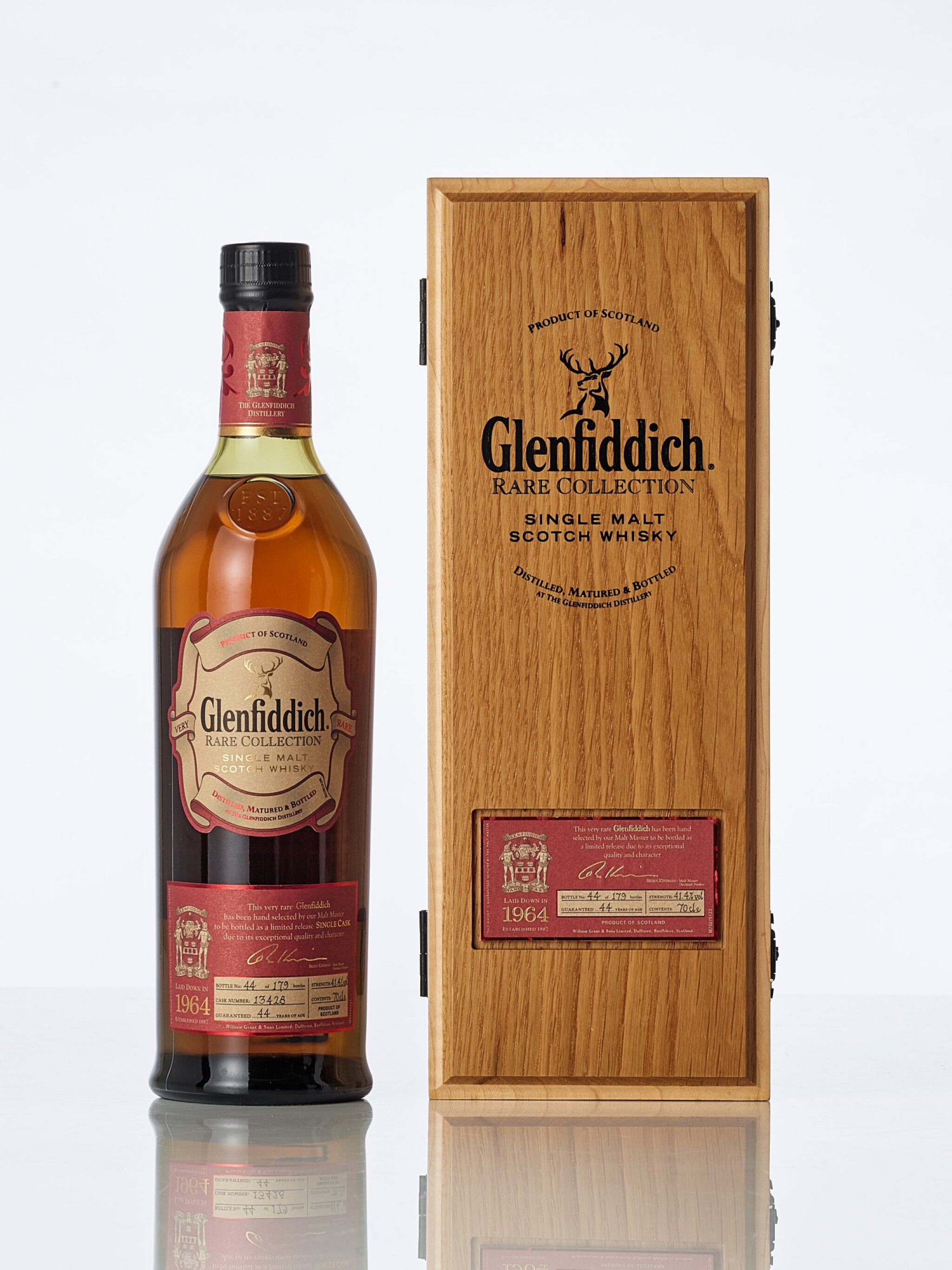 View full screen - View 1 of Lot 2022. Glenfiddich Rare Collection 44 Year Old 41.4 abv 1964 (1 BT70).
