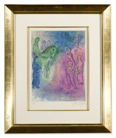View 2. Thumbnail of Lot 19. MARC CHAGALL | ARRIVAL OF DIONYSOPHANES (M. 344; SEE C. BKS. 46).