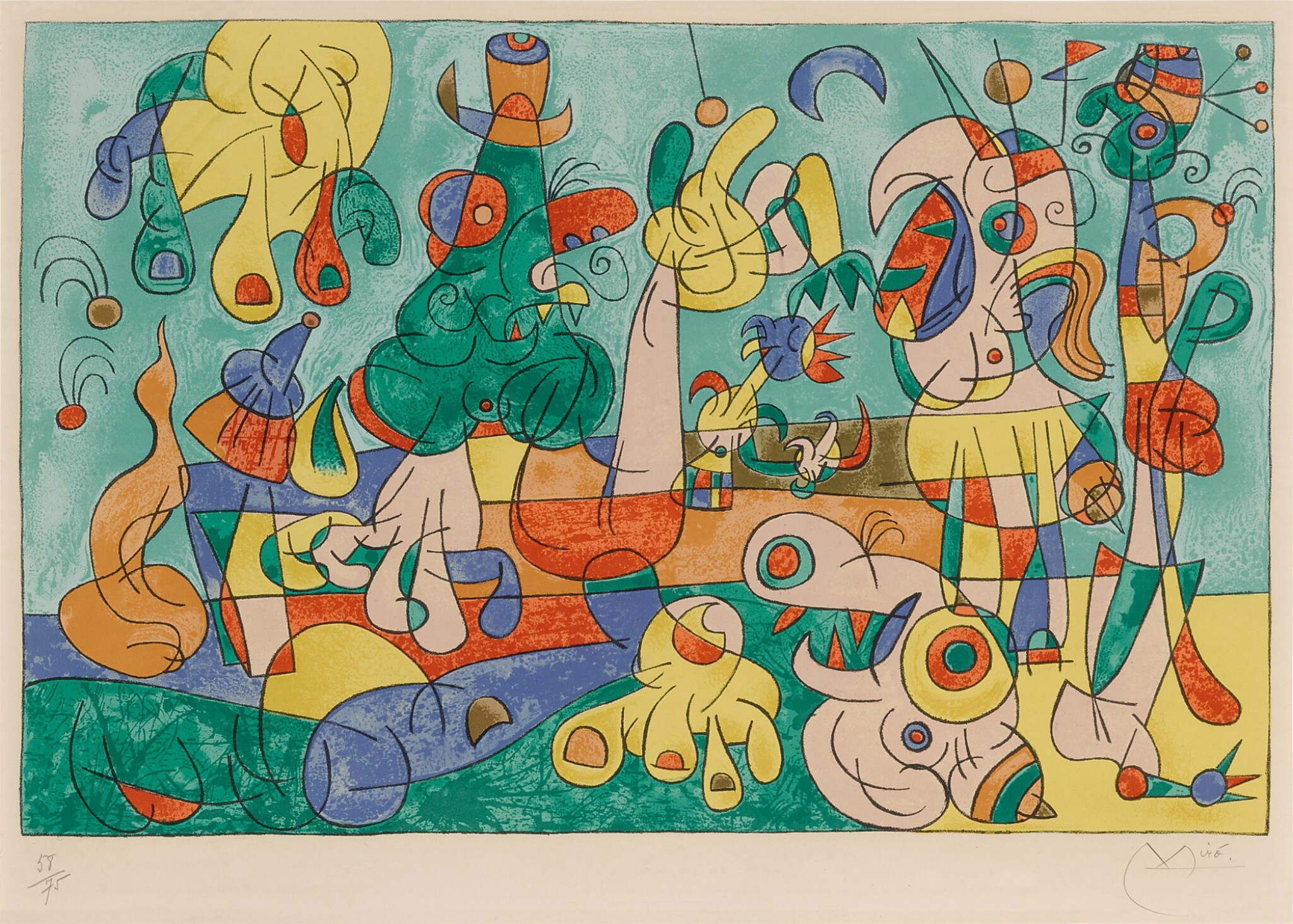 View full screen - View 1 of Lot 113. Suites pour Ubu Roi: One Plate (Mourlot 465; see Cramer Books 108).
