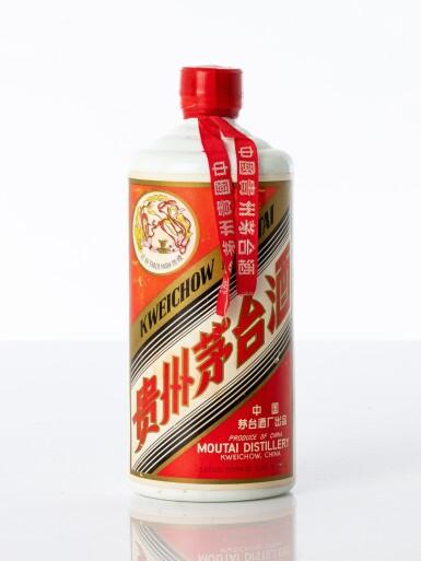 "View 1. Thumbnail of Lot 5082. ""大飛天""貴州茅台酒Kweichow Flying Fairy Moutai cira 1975 - 1983 NV  (1 BT54)."