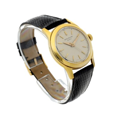 View 3. Thumbnail of Lot 3. REFERENCE 2483 A YELLOW GOLD CENTER SECONDS WRISTWATCH, MADE IN 1950.