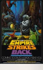 THE EMPIRE STRIKES BACK, NPR RADIO POSTER, RALPH MCQUARRIE, 1983