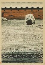 SHIRO KASAMATSU (1898–1991), SHŌWA PERIOD, 20TH CENTURY | SNOW AT THE STONE GARDEN (YUKI NO ISHINIWA)