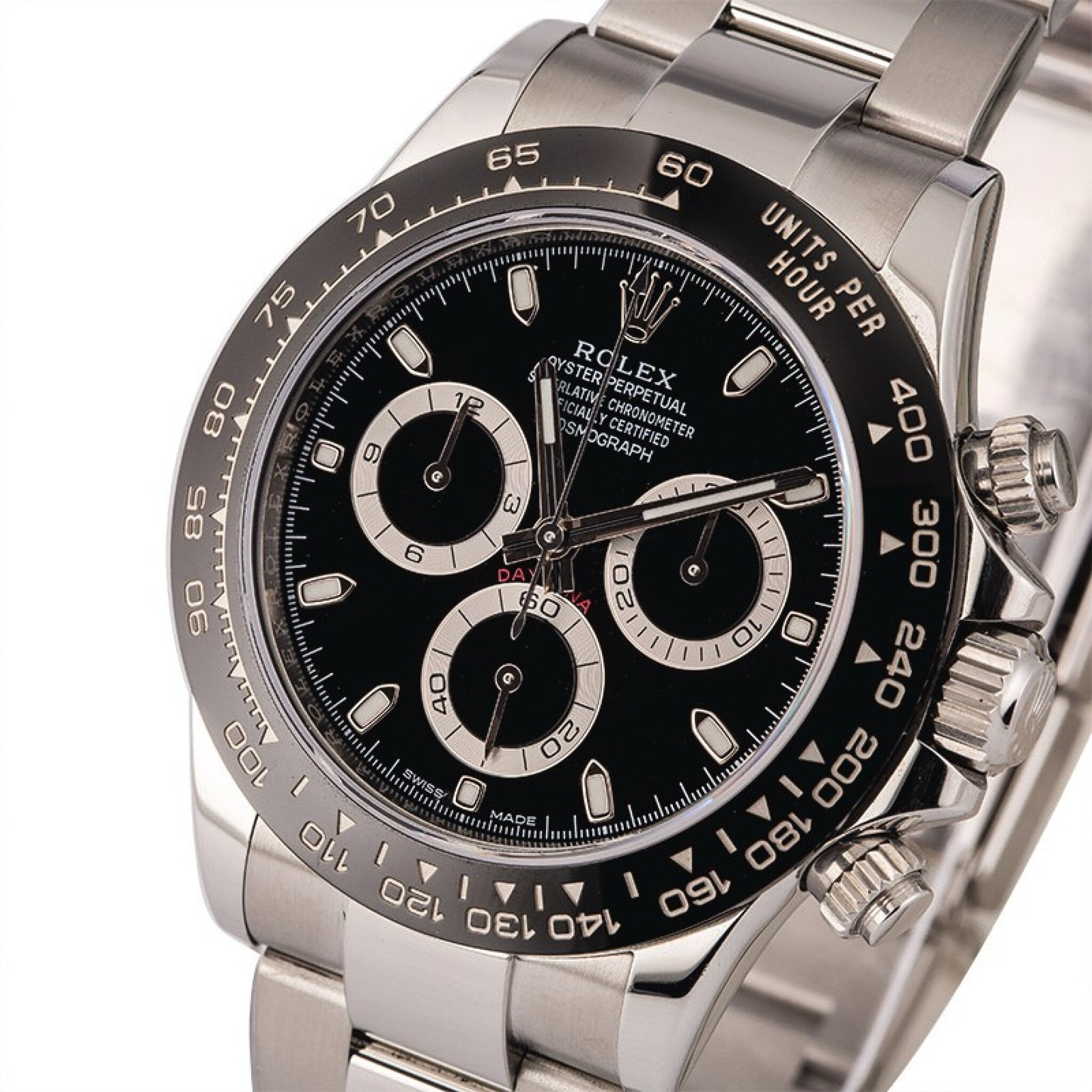 View full screen - View 1 of Lot 10. ROLEX   Daytona, Ref. 116500LN, A Stainless Steel Chronograph Wristwatch with Bracelet, Circa 2018 .